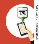 online shopping on mobile phone ... | Shutterstock .eps vector #464944892