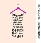 woman dress made from  the quote | Shutterstock . vector #464946248