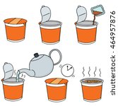 vector set of step to make... | Shutterstock .eps vector #464957876