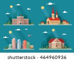 icons  school  church ... | Shutterstock .eps vector #464960936