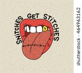 """snithes get stiches"" stitched... 