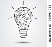 lamp and brain | Shutterstock .eps vector #464964755