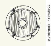 viking weapon. vector... | Shutterstock .eps vector #464965922