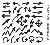 set of marker arrows  pointers... | Shutterstock .eps vector #464968478