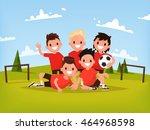 children's football team. boys...   Shutterstock .eps vector #464968598