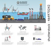 oil industry processing and... | Shutterstock .eps vector #464970242