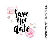 wedding invitation card... | Shutterstock .eps vector #464972132