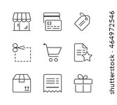 shopping icons set  thin line ... | Shutterstock .eps vector #464972546
