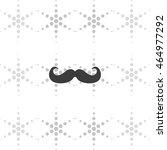 retro mustache icon. flat...