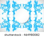 banner grunge. blue and white... | Shutterstock . vector #464980082