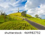 obelisk on the summit of the... | Shutterstock . vector #464982752