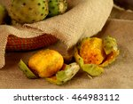 Two Peeled Prickly Pears On...