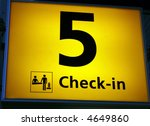check in sign at airport with... | Shutterstock . vector #4649860