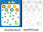 preschool worksheet for... | Shutterstock .eps vector #464995166