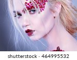 beautiful girl  isolated on a... | Shutterstock . vector #464995532