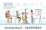business people group... | Shutterstock .eps vector #464995865