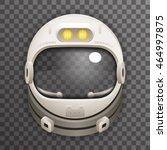 realistic helmet cosmonaut... | Shutterstock .eps vector #464997875