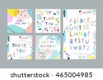 thank you  happy birthday ... | Shutterstock .eps vector #465004985