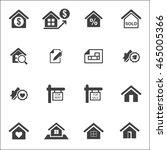 real estate set on white... | Shutterstock .eps vector #465005366
