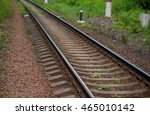 the railway in the countryside... | Shutterstock . vector #465010142