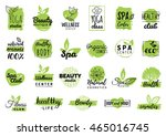 vector health and beauty care... | Shutterstock .eps vector #465016745