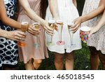 hands of woman holding colorful ... | Shutterstock . vector #465018545