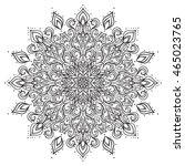 outline vector mandala.... | Shutterstock .eps vector #465023765