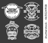 motorcycle badge | Shutterstock .eps vector #465024908