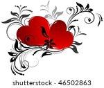 happy valentine's day heart... | Shutterstock .eps vector #46502863
