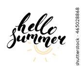 brush lettering composition... | Shutterstock .eps vector #465028868
