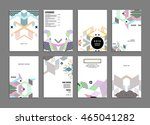 business abstract template... | Shutterstock .eps vector #465041282