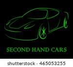 second hand cars indicating... | Shutterstock . vector #465053255