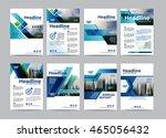 blue set brochure layout design ... | Shutterstock .eps vector #465056432