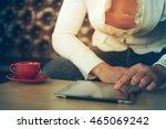 business woman using digital... | Shutterstock . vector #465069242