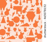 orange animal seamless pattern...   Shutterstock .eps vector #465078152