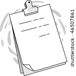 illustration of a paper with... | Shutterstock . vector #46507861