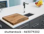 kitchen counter with cutting... | Shutterstock . vector #465079202