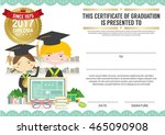 diploma certificate template... | Shutterstock .eps vector #465090908