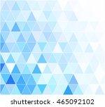 blue grid mosaic background ... | Shutterstock .eps vector #465092102