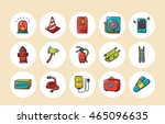 emergency and fire icons set...