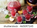 traditional homemade plum... | Shutterstock . vector #465097145