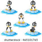 penguin cartoon set collection