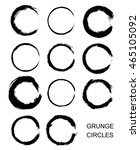 grunge circles round shapes... | Shutterstock .eps vector #465105092