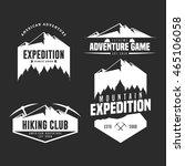 set of mountain adventure logo...   Shutterstock .eps vector #465106058