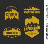 set of mountain adventure logo... | Shutterstock .eps vector #465106076