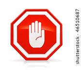 stop sign  mesh | Shutterstock .eps vector #46510687