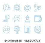 seo icons set web and mobile ui