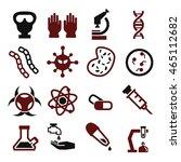 biohazard  toxic icon set | Shutterstock .eps vector #465112682
