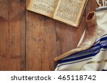 prayer shawl   tallit and... | Shutterstock . vector #465118742