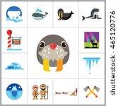 north pole icon set   Shutterstock .eps vector #465120776